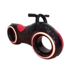 Беговел Star One Scooter - DB002 черно- красный (устойчивые колеса, подсветка, музыка)